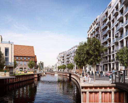 Engholmene - den store kanal der forbinder hele området